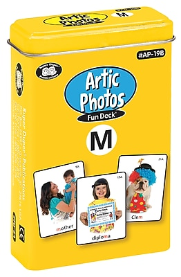 Super Duper Publications Articulation Photos Fun Deck, M Sound, New Color Photos, Tin (AP19B)