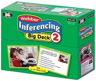 Super Duper Publications Flash Cards, Inferencing Big Deck, Set 2, Box (BIG456)
