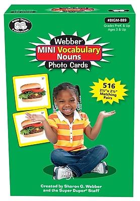 Super Duper Publications Photo Cards, Mini Vocabulary Nouns, Portable Version, Box (BIGM889)