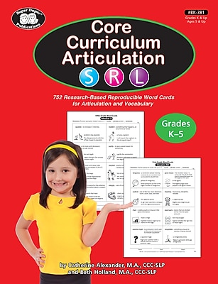 Super Duper Publications Core Curriculum Articulation Book, S R L phonemes, Reproducible, Paperback (BK381)
