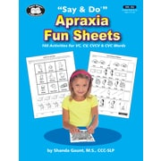 Super Duper Publications Say & Do Apraxia Fun Sheets, Reproducible Workbook, Paperback (BK382)