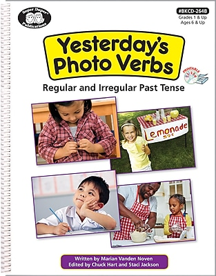 Super Duper Publications Yesterday's Photo Verbs Workbook, Printable CD, Spiral Bound (BKCD264B)