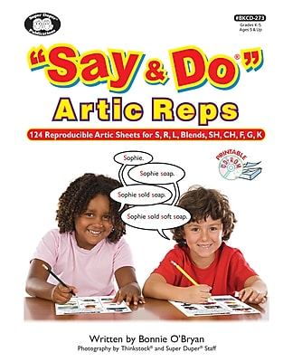 Super Duper Publications Say & Do Articulation Repetitions Book, Photo Based Activities, Printable CD, Paperback (BKCD273)