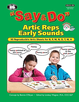 Super Duper Publications Say & Do Articulation Repetitions Early Sounds Book, Photo Based Activities, CD, Paperback (BKCD288)