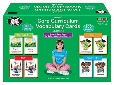 Super Duper Publications Core Curriculum Vocabulary Cards, Third Grade Words, Level 3, Box (CRD58B)