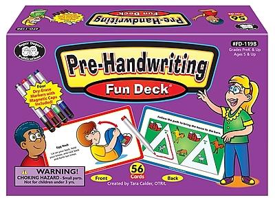 Super Duper Publications Flash Cards, Pre-Handwriting, Color Illustrations, Box (FD119B)