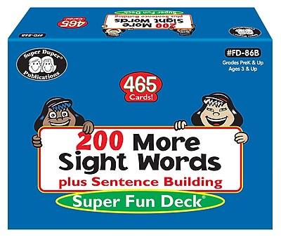 Super Duper Publications Flash Cards, 200 More Sight Words, Box (FD86B)