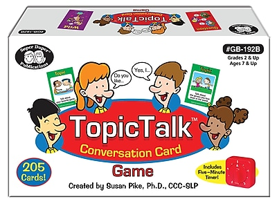Super Duper Publications TopicTalk, Conversation Card Game, Color Illustrations, Box (GB192B)