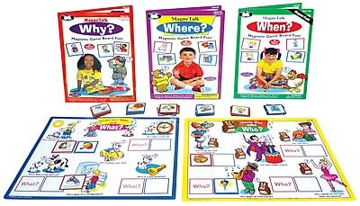 Super Duper Publications Magnetalk WH Questions Combo, 5 Magnetic Games, Color Illustrations, Box (SAS500B)