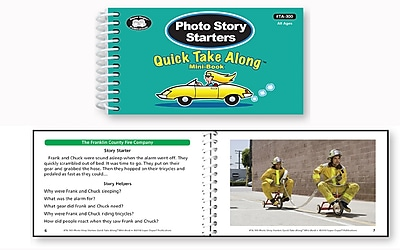 Super Duper Publications Quick Take Along, Photo Story Starters, Mini Book, Paperback (TA300)