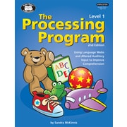 Super Duper Publications The Processing Program, Level 1, Revised 2nd Edition, Hardcover (TPX37701)