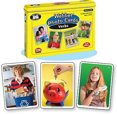 Super Duper Publications Photo Cards, Verbs, New Revised Photos, Tin (WFC02B)