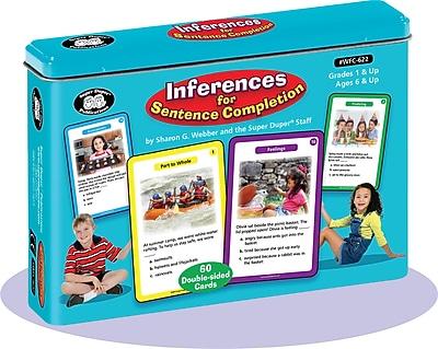 Super Duper Publications Flash Cards, Inferences for Sentence Completion, Color Photos, Tin (WFC622)