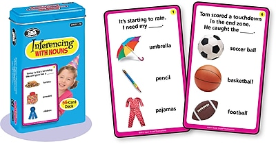 Super Duper Publications Photo Cards, Inferencing with Nouns, Tin (WFC78)