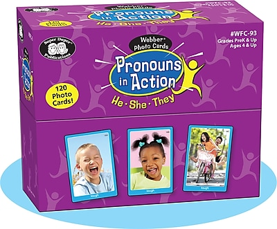 Super Duper Publications Photo Cards, Pronouns in Action, Box (WFC93)