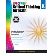 Spectrum Critical Thinking for Math, Grade K Paperback (705112)