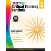 Spectrum Critical Thinking for Math, Grade 4 Paperback (705116)