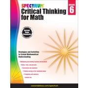 Spectrum Critical Thinking for Math, Grade 6 Paperback (705118)