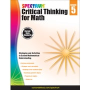 Spectrum Critical Thinking for Math, Grade 5 Paperback (705117)