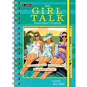 """2019 LANG 9"""" x 6.25"""", Monthly Spiral Planner, Girl Talk, Engagement (19991011106)"""
