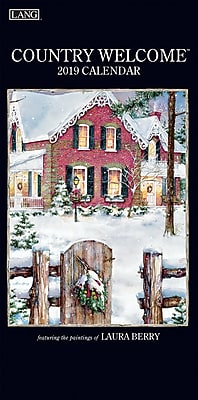"""2019 Lang 15.5"""" x 7.75"""" Country Welcome Vertical Wall Calendar (19991079116)"""