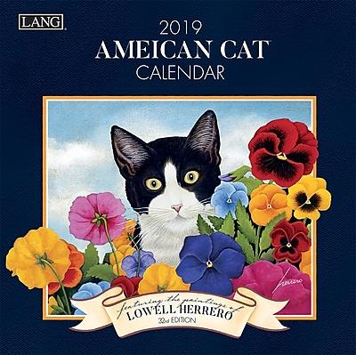 """2019 LANG 7"""" x 7"""" American Cat Mini Wall Calendar (19991079235)"""