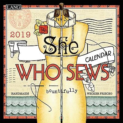 Lang She Who Sews 2019 Mini Wall Calendar (19991079262)