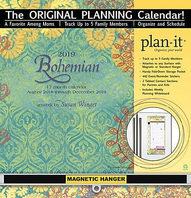 Wells St By Lang Bohemian 2019 Plan-It Plus (19997009159)