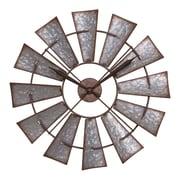 La Crosse Clock 22 Inch Metal Windmill Quartz Wall Clock (404-3956)