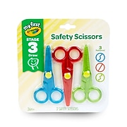Crayola® My First Crayola® Safety Scissors, 3/Pack (81-1458)