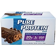 Balance Bar Pure Protein Chewy Chocolate Chip, Pack of 6 (NRN13353)