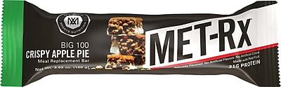 Balance Bar MET-Rx Big 100 Colossal Crispy Apple Pie, Pack of 9 (NRN55728)