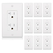 Maxxima Tamper Resistant Duplex Receptacle ,Wall Outlet 20A, White (MEW-R200W-10)