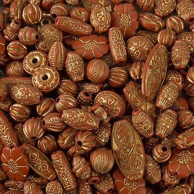 Limited Edition, Old World Bead Mix Terra Cotta 1 Lb, (CF-13771)