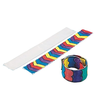 Sew-Star Int'L Trading Co Ltd, Color Me Fabric Slap Bracelet Pk/24, (CM183)