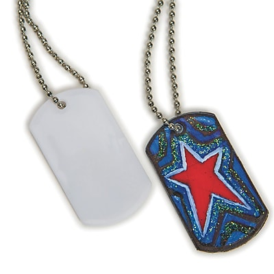 Limited Edition, Color Me Dog Tag Necklaces Pk50, (CF-14136)