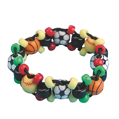 Limited Edition, Sport Bead Bracelet Craft Kit Pk12, (CF-13398)
