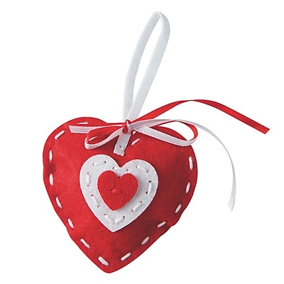 Limited Edition, Stitched Felt Heart Ornament Kit Pk12, (CF-13705)