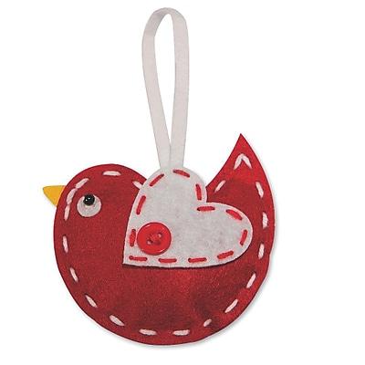 Limited Edition, Stitched Felt Bird Ornament Craft Kt Pk12, (CF-13706)