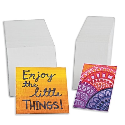 Tara Materials Inc, Mini Canvas Panel 1-7/8In X 2-3/4In Pk/60, (3731)