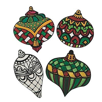 S&S Worldwide, Velvet Art Ornaments Pk24, (76820-PS1403)