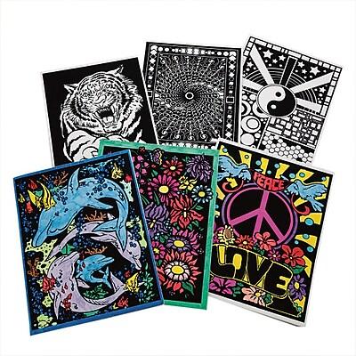 S&S Worldwide, Velvet Art Folders Pk6, (PS1410)
