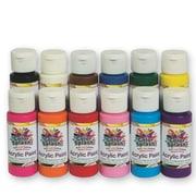 Wing Art Supplies Co Ltd, Acrylic Paint 2Oz Asst Pk/12, (PT3126)