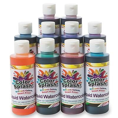 Wing Art Supplies Co Ltd, Color Splash Liquid Watercolr 8 Oz Set 10, (PT3483)