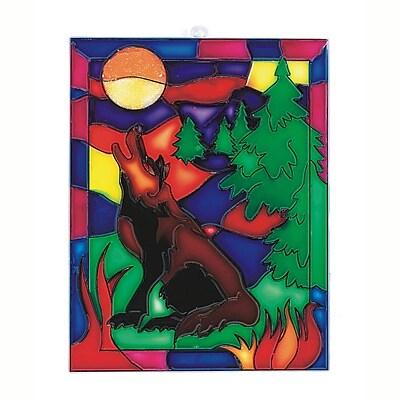Limited Edition, Wolf Suncatcher Pk/12, (CF-5904)