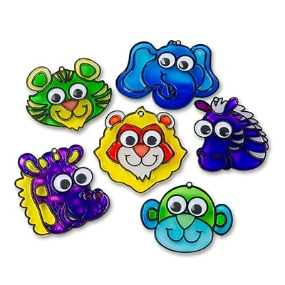 Limited Edition, Suncatcher Zoo Animals W/Wiggly Eyes Pk24, (CF-13070)