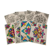 Limited Edition, Color Your Own Stained Glass Window Clings, (CF-13531)