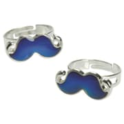 Us Toy Co Inc Moustache Mood Rings Pack of 12 (JA796)