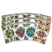 Limited Edition, Stained Glass Window Clings Rect Pk12, (CF-13312)