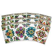 S&S Worldwide Stained Glass Window Clings Rect, 12/Pack (CF-13312)